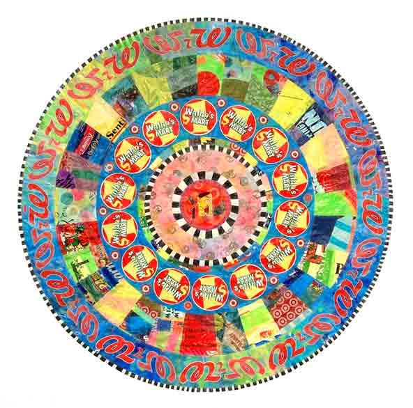 Allah dollar mandala by Virginia Fleck