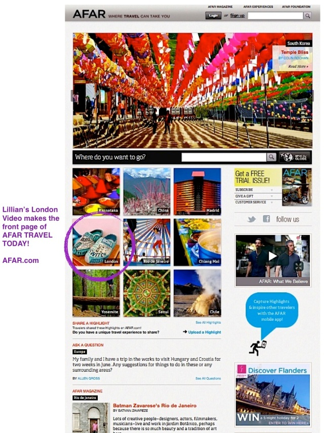 AFAR home page