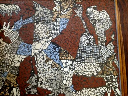 Detail of the nipped tile - looks like an aerial view of landscape