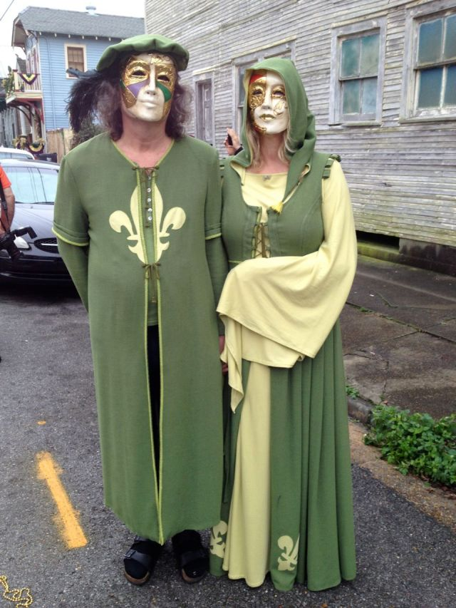 Very stoic revelers for the St. Anne's parade.