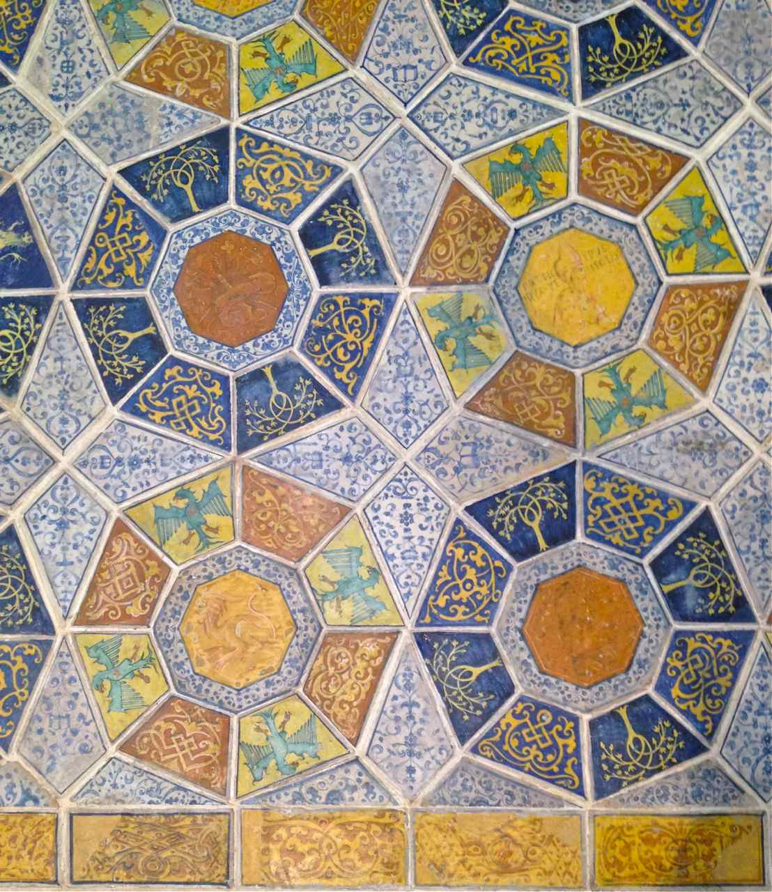 Octagonal Italian Tile, 1513, at the V&A Museum, London