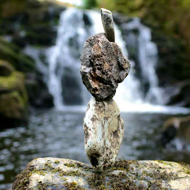 Rock balance by my husband, Andy Patrick