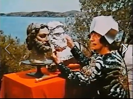 """Salvador Dali still from """"Soft Self-Portrait of Salvador Dali"""", Narrated by Orson Welles, 1970. Director: Jean-Christophe Averty"""