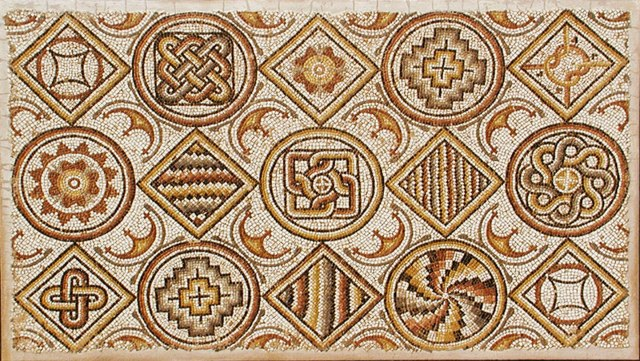 REAL Roman mosaic for sale. Photo courtesy Edgar L.  Owen Antiques http://www.edgarlowen.com/antiquities-treasury.shtml