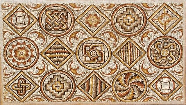 REAL Roman mosaic for sale. Photo courtesy Edgar L.  Owen Antiques http://www.edgarlowen.com/antiquities-treasury.shtml